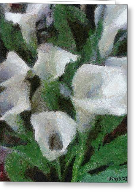 Jeff Greeting Cards - Kims Flowers Greeting Card by Jeff Kolker
