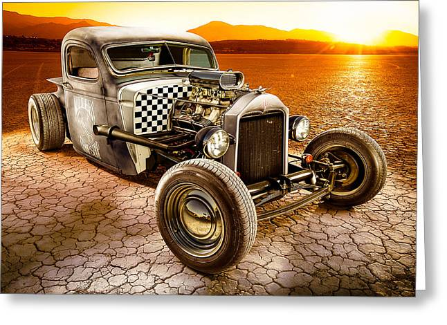 Headlight Greeting Cards - Millers Chop Shop 1946 Chevy Truck Greeting Card by Yo Pedro