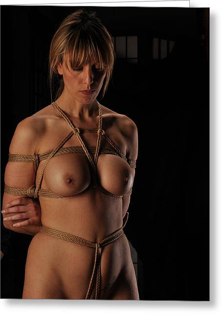 Fifty Shades Of Grey Greeting Cards - Kinbaku Greeting Card by Azure Dragon