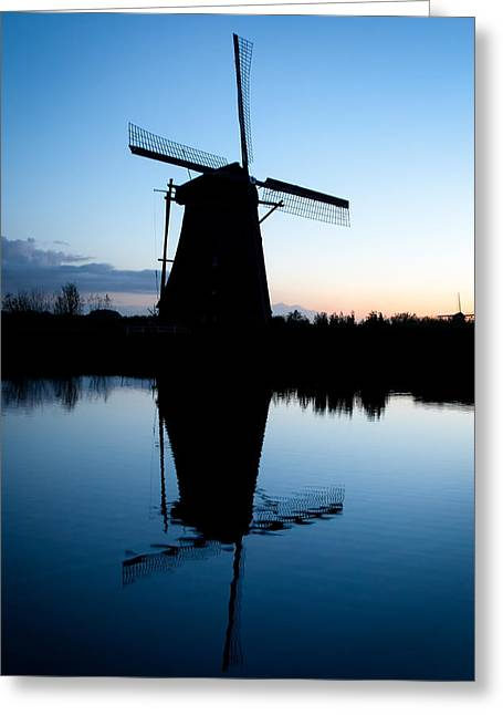 Picturesque Greeting Cards - Kinderdijk Dawn Greeting Card by Dave Bowman
