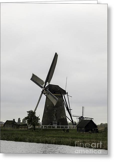 Outbuildings Greeting Cards - KInderdijk Windmill Museum 2 Greeting Card by Teresa Mucha