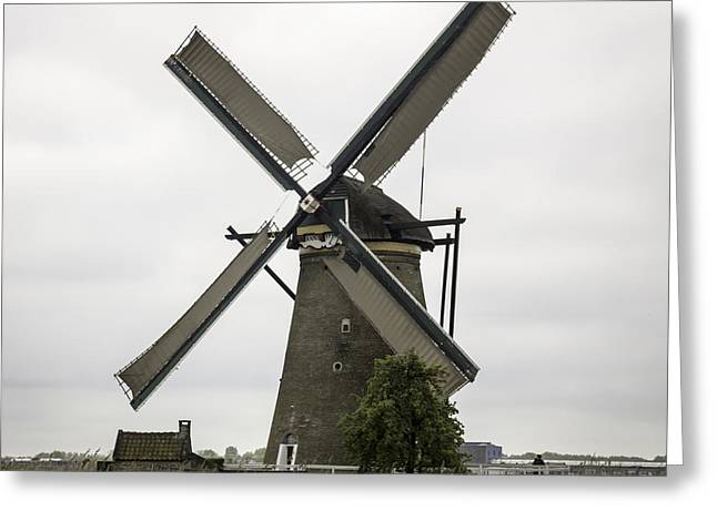 Boat Cruise Greeting Cards - Kinderdijk Windmill Museum Squared Greeting Card by Teresa Mucha