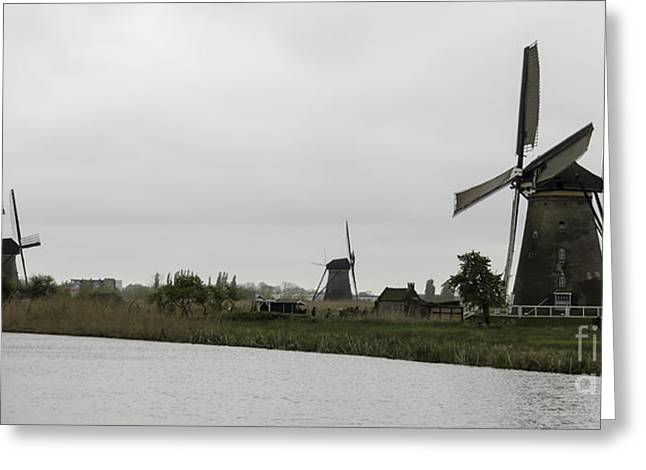 Outbuildings Greeting Cards - Kinderdijk Windmills 04 Greeting Card by Teresa Mucha