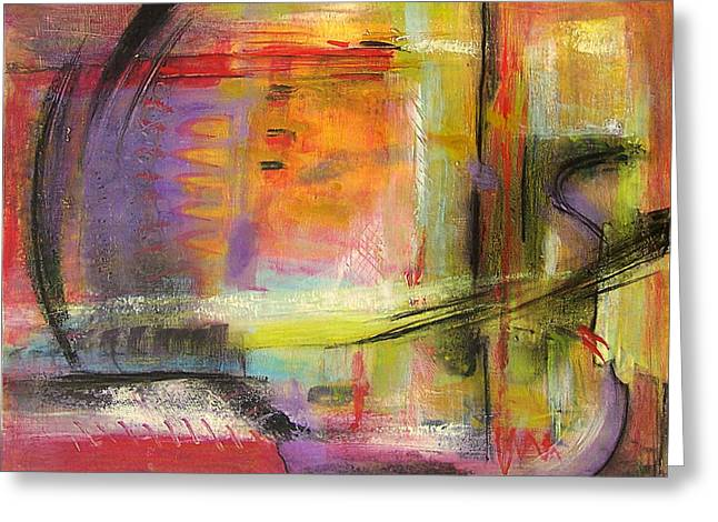 Nature Abstracts Greeting Cards - Kindness of Strangers Abstract Greeting Card by Blenda Studio