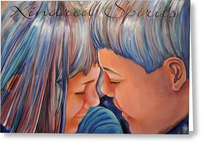 Kindred Spirits Greeting Cards - Kindred Spirits II Greeting Card by Carol Allen Anfinsen