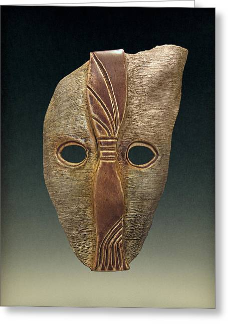 Ceramic Sculpture Sculptures Greeting Cards - King #0012 Greeting Card by Diana Lee
