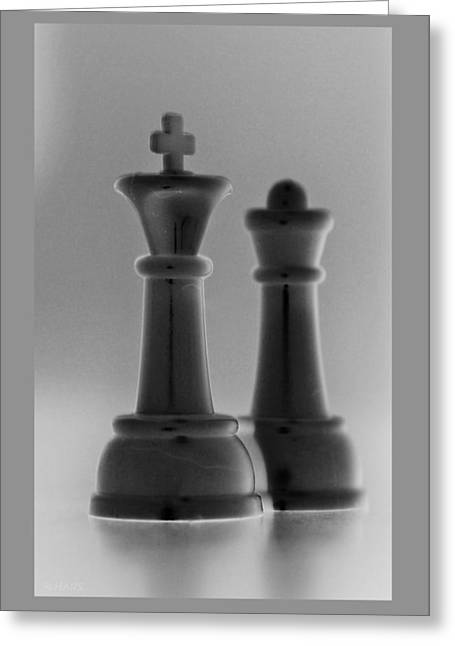 King And Queen In Black And Gray Greeting Card by Rob Hans