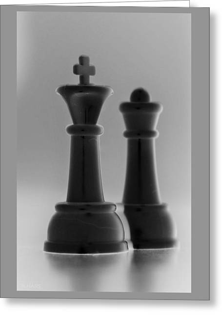 King And Queen In Black And White Greeting Card by Rob Hans