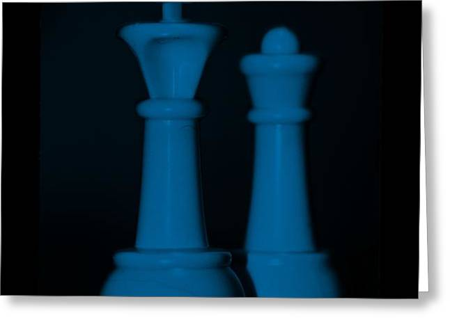 KING AND QUEEN in BLUE Greeting Card by ROB HANS