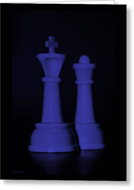 Game Piece Digital Art Greeting Cards - KING AND QUEEN in PURPLE Greeting Card by Rob Hans