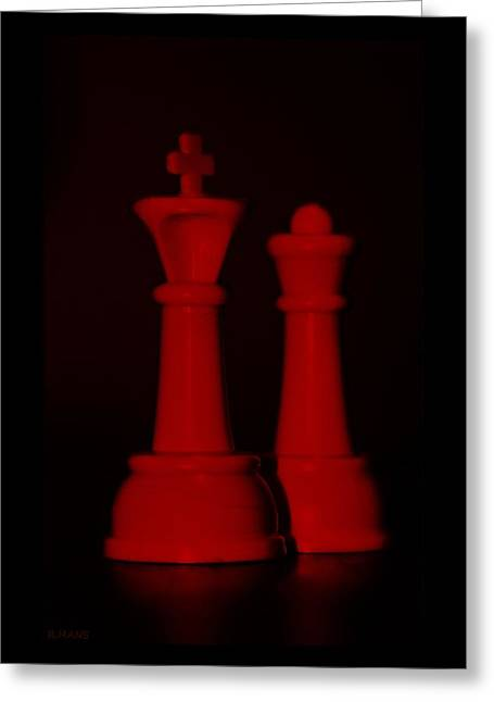Game Piece Digital Art Greeting Cards - KING AND QUEEN in RED Greeting Card by Rob Hans