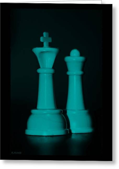 King And Queen In Turquois Greeting Card by Rob Hans