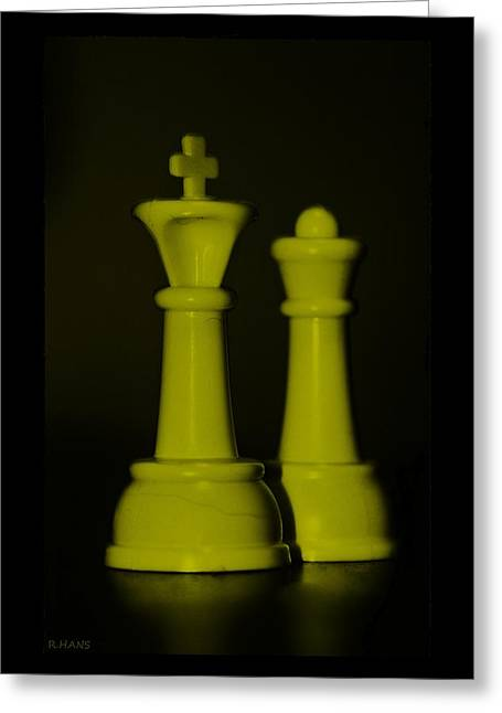 King And Queen In Yellow Greeting Card by Rob Hans