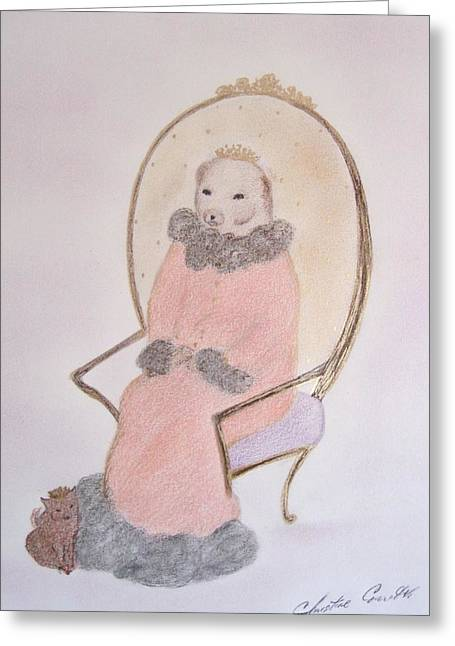 Characters Pastels Greeting Cards - King Big Bear  Greeting Card by Christine Corretti