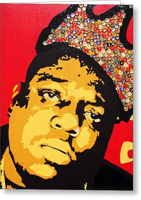 Haitian Mixed Media Greeting Cards - King Big Greeting Card by Voodo Fe Culture