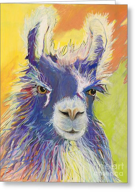 License Portrait Greeting Cards - King Charles Greeting Card by Pat Saunders-White