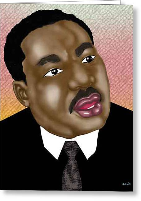 Beat It Digital Art Greeting Cards - King Greeting Card by Charles Smith