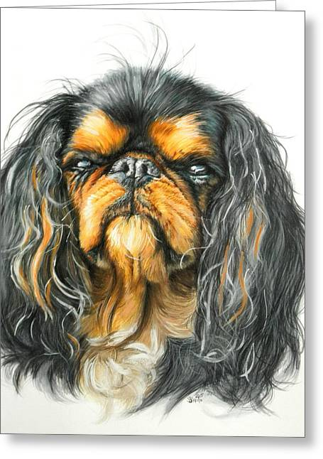 Toy Dog Greeting Cards - King Charles Spaniel Greeting Card by Barbara Keith