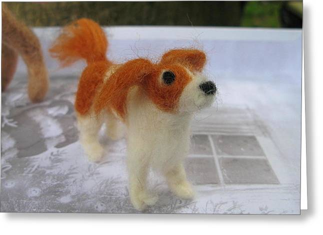 Toy Dog Sculptures Greeting Cards - King Charles Spaniel Greeting Card by Maria Joy