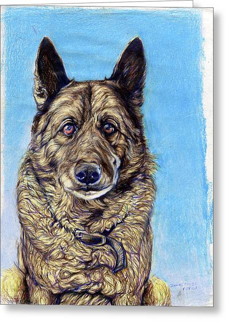 Me And My Dog Greeting Cards - King Greeting Card by Daniel Ragsdale Combs