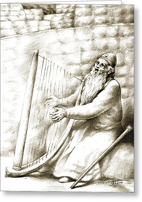 King David Greeting Card by Alex Tavshunsky