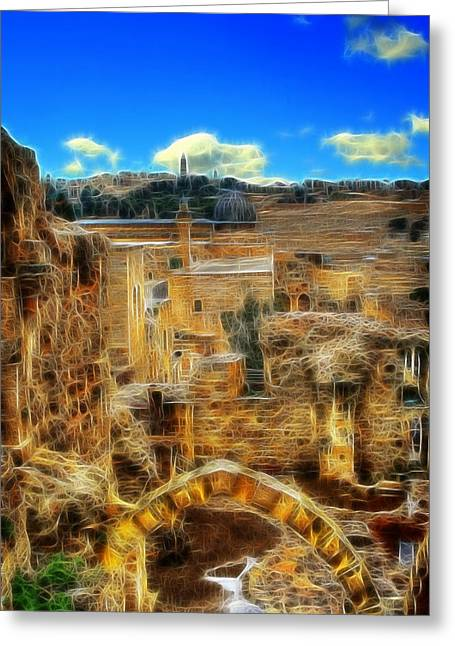 Old Western Photos Digital Art Greeting Cards - King Davids House Greeting Card by Michael Braham