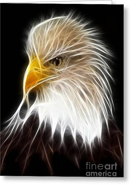 Mordern Greeting Cards - King Eagle Greeting Card by Mousa Nasser