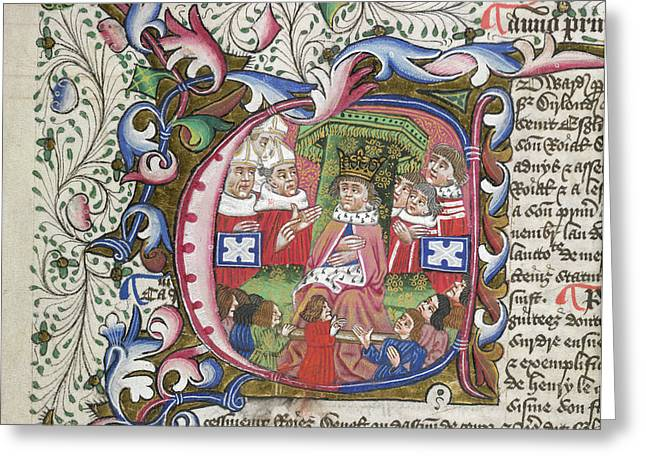 King Edward Iv Greeting Card by British Library