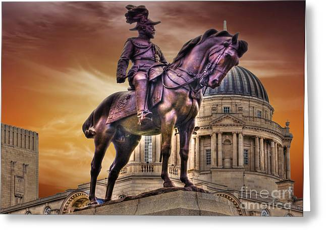 Fineartprint Greeting Cards - King Edward V11 In Bronze Greeting Card by Wobblymol Davis