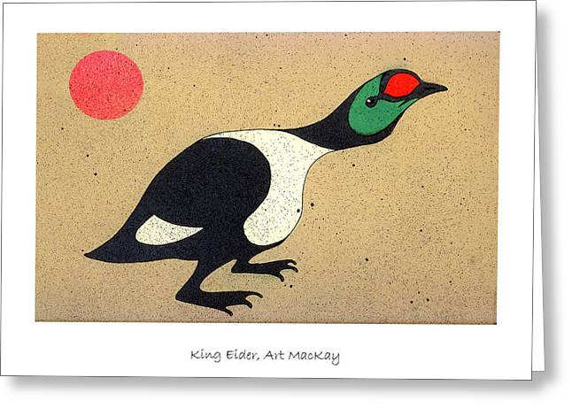 Seabirds Mixed Media Greeting Cards - King Eider Greeting Card by Art  MacKay