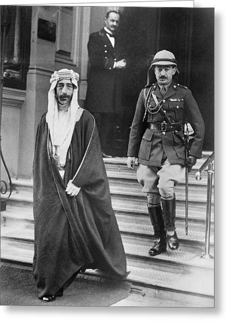 Full-length Portrait Greeting Cards - King Feisal of Iraq Greeting Card by Underwood Archives