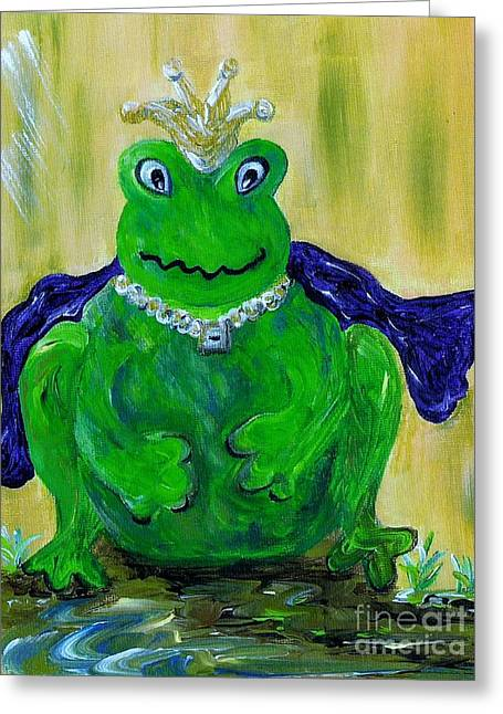 Storybook Greeting Cards - King for a Day Greeting Card by Eloise Schneider