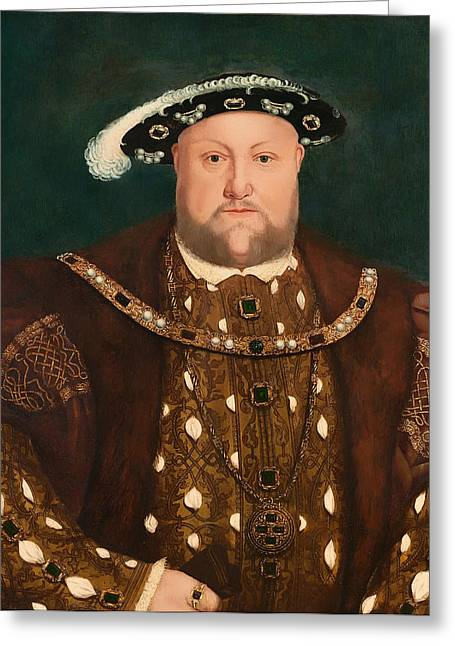 British Royalty Greeting Cards - King Henry VIII Greeting Card by Holbein