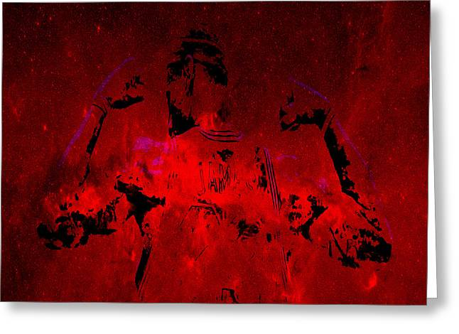 Miami Heat Digital Art Greeting Cards - King James  Greeting Card by Brian Reaves