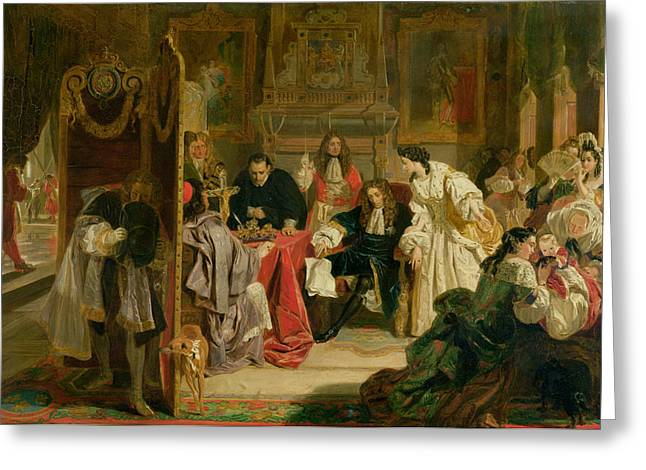 Council Greeting Cards - King James Ii Receiving The News Greeting Card by Edward Matthew Ward