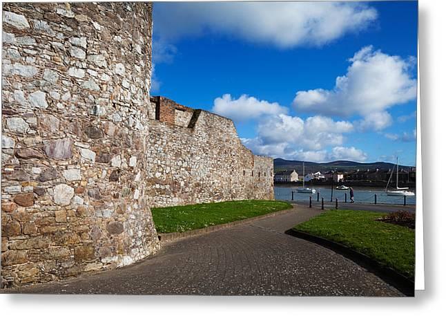 Interpretation Greeting Cards - King Johns Castle Walls, Dungarvan Greeting Card by Panoramic Images