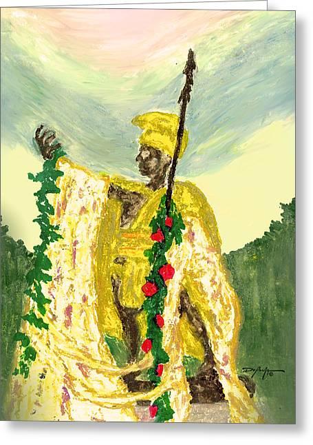 King Pastels Greeting Cards - King Kamehameha Festival Greeting Card by William Depaula