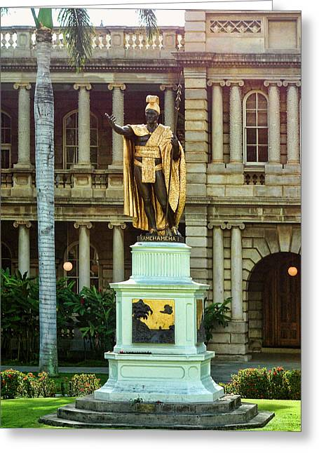 Kamehameha Greeting Cards - King Kamehameha I Greeting Card by Linda Phelps