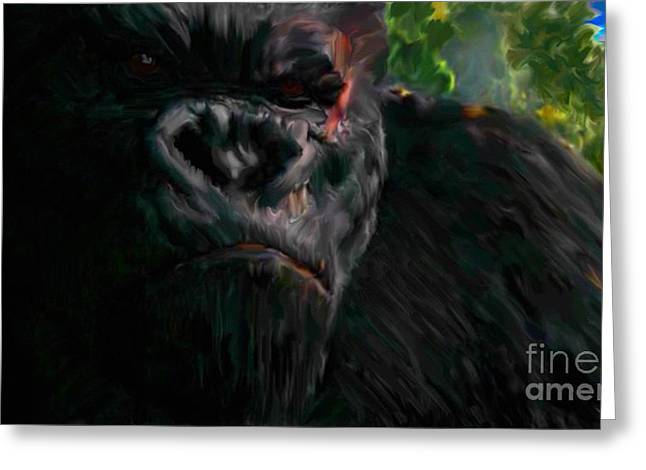 Tablets Greeting Cards - King Kong - Concentration Greeting Card by Miroslav Tyl