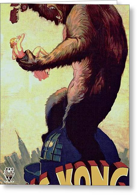 Movie Poster Prints Greeting Cards - King Kong  Greeting Card by Movie Poster Prints
