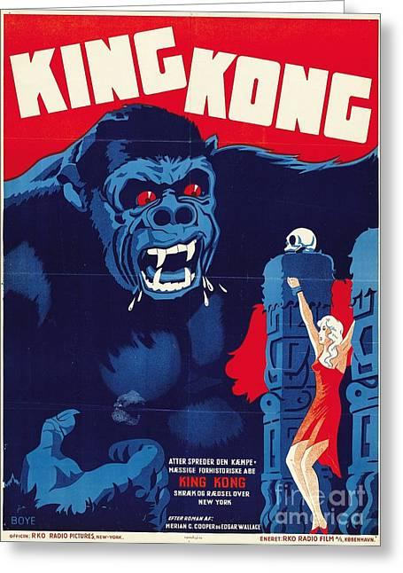 1933 Mixed Media Greeting Cards - King Kong Greeting Card by Pg Reproductions