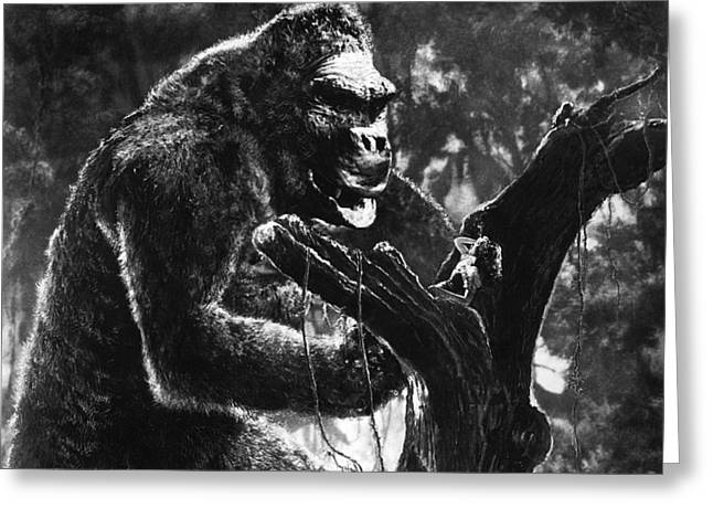Wray Greeting Cards - King Kong  Greeting Card by Silver Screen