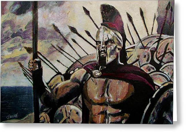 Frank Miller Greeting Cards - King Leonidas Greeting Card by Jeremy Moore