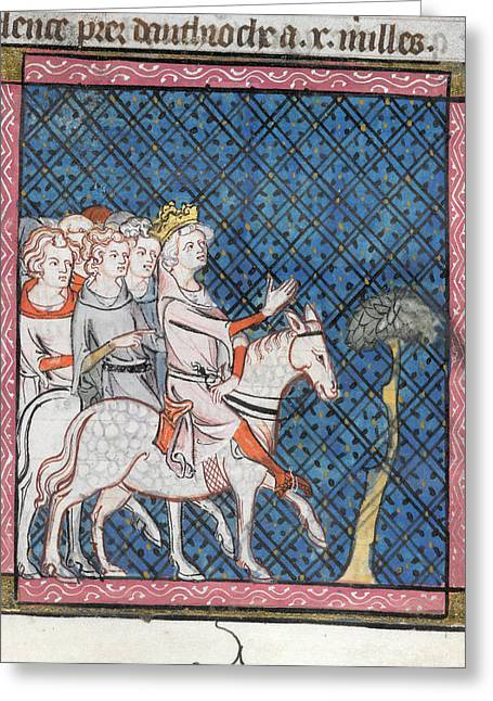 King Louis Vii Rides To Antioch Greeting Card by British Library