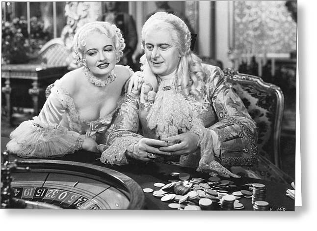 1933 Movies Greeting Cards - King Louis XV Gambling Greeting Card by Underwood Archives
