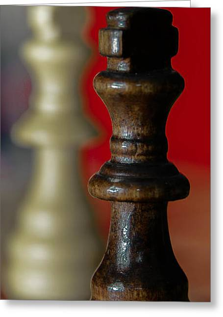Checkmate Digital Art Greeting Cards - King Me Greeting Card by Daniel McKinney