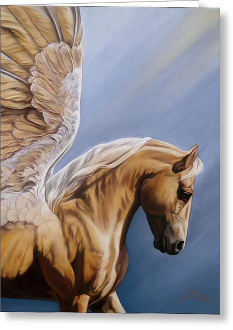 Stallion Pastels Greeting Cards - King Midas Greeting Card by Kim McElroy
