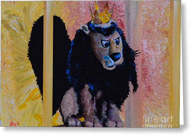 Rudolph Paintings Greeting Cards - King Moonracer Greeting Card by Alys Caviness-Gober