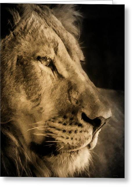 Wildcats Digital Greeting Cards - King of Beasts Greeting Card by Ernie Echols