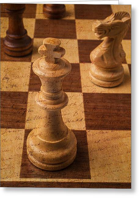 Defiance Greeting Cards - King Of Chess Greeting Card by Garry Gay